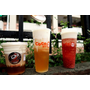 COCO法式奶霜 法國鐵塔牌鮮奶油 文青漸層飲料打卡 奶霜綠茶/奶霜草莓果肉/奶霜咖啡買一送一~