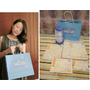 【Baby Talk】100%精梳棉嬰兒紗布衣+高耐溫奶粉分裝盒套組:繽紛水果貓,送給閨蜜最棒的新生兒用品/滿月禮!!