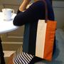 [好物分享] 哎喔生活雜良。南方設計 時光旅行系列 真皮提把拼色手提包。實用好搭配的日系包包!