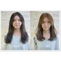 台北市髮型設計師推薦 縮毛矯正燙髮  空氣  剪髮   清新浪漫 風格  8度冷棕色染髮