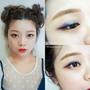 這樣的彩色眼影妝很可以出門~薄荷綠X紫丁香夢幻眼妝(內有影音)