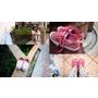 [ 鞋 ] 【BONJOUR女鞋】3yrs old人見人愛莓果色厚底帆布鞋/4cm尖頭低跟裸色棉布面鞋:可愛、時尚又迷人,在一雙鞋子中能兼得!