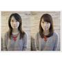 台北市髮型設計推薦 自然披肩長髮給人一種清純感.