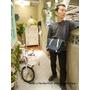 台灣設計師品牌 參生活 Pinkoi 藍色簡法郵差斜背包