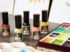 「上羽繪惣」胡粉指甲油系列來台,職人和風色彩翩然指上 !