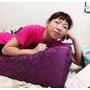 【抬腿枕/輕鬆枕/靠枕推薦】GreySa格蕾莎抬腿枕、輕鬆枕(神秘魅紫)~曲線設計能夠完美貼合腿部、舒緩足腿腰背不適~佩雯姐用過覺得超讚推薦❤