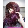 永和頂溪髮廊【時光藝廊Time Hair Salon】紫紅漸層氣質鏡面色,膚色更顯白晢