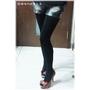 陳思璇‧240D立體V平腹雕塑褲襪 美腿立現的小心機