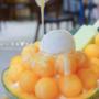超浮誇的哈密瓜冰,食尚玩家推薦美食!